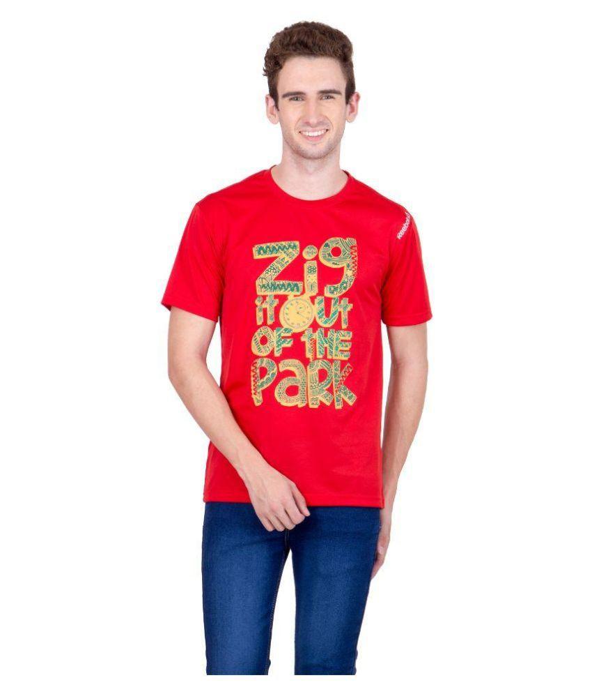 Reebok Red Round T Shirt