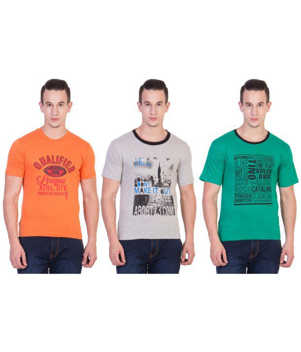 Xscape  Multi Round T Shirt Pack of 3