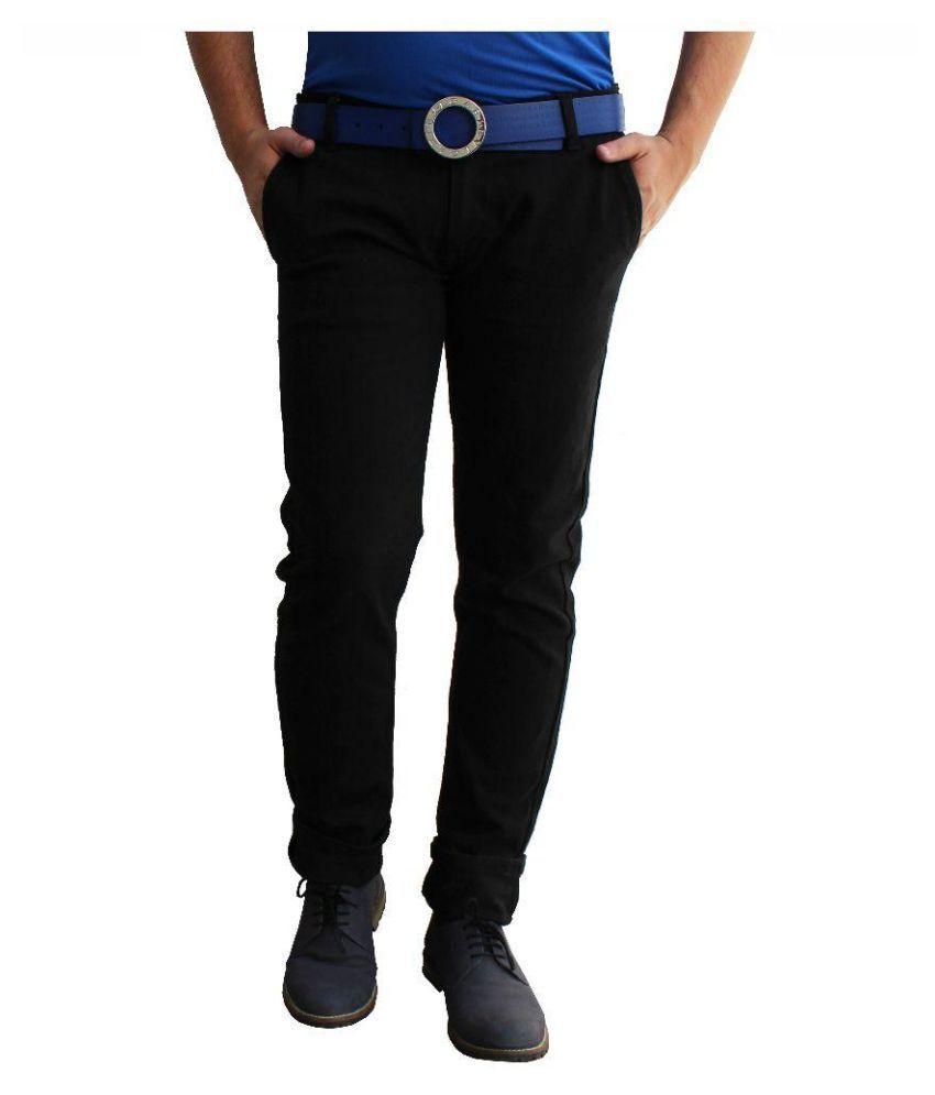 Ben Carter Black Slim Fit Solid Jeans