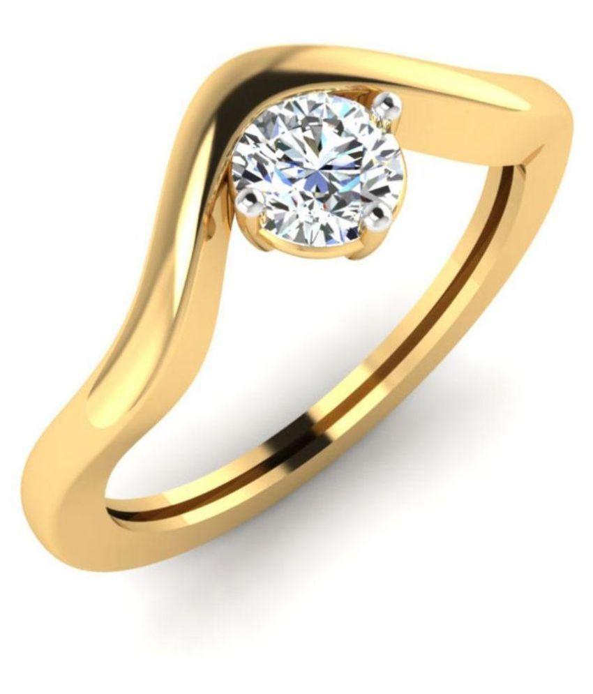 Carat Forever 14Kt Yellow Gold Designer Ring