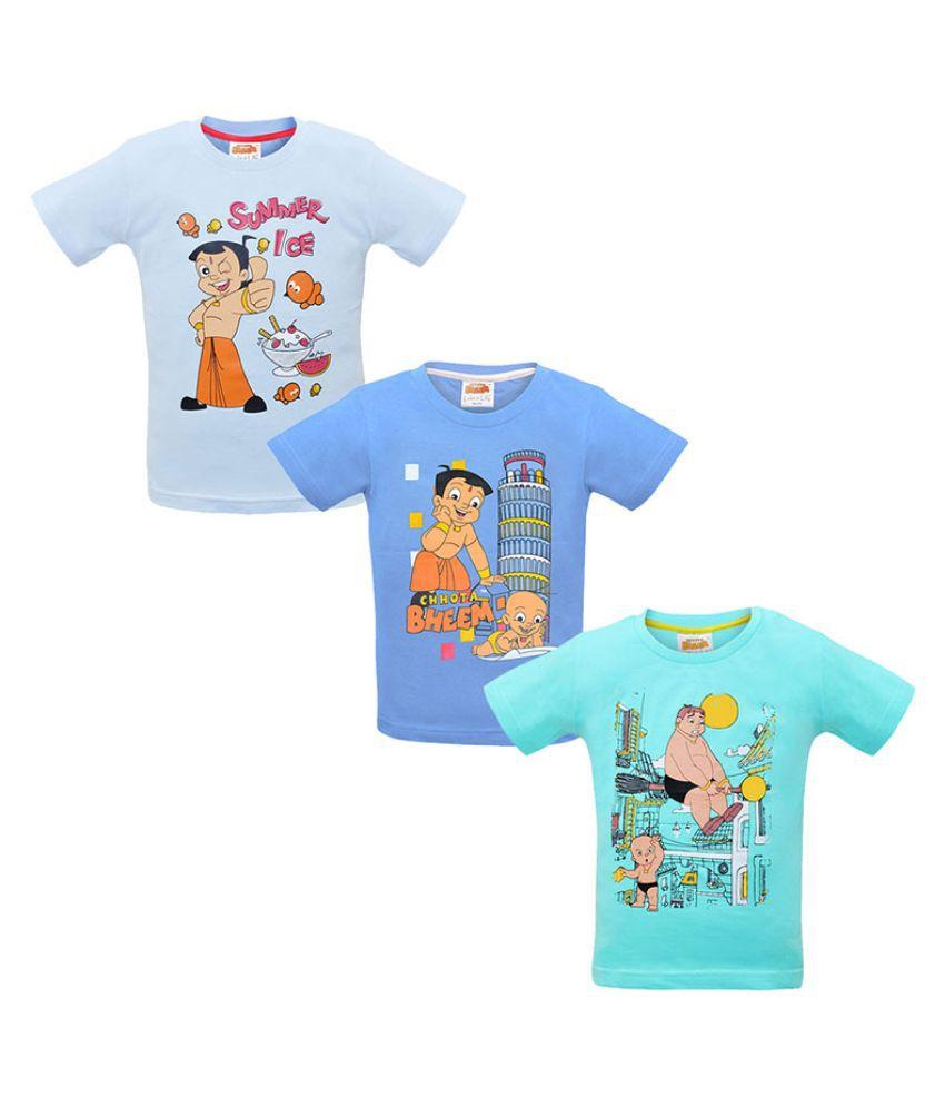 Chhota Bheem Multicolor T-Shirt - Pack of 3