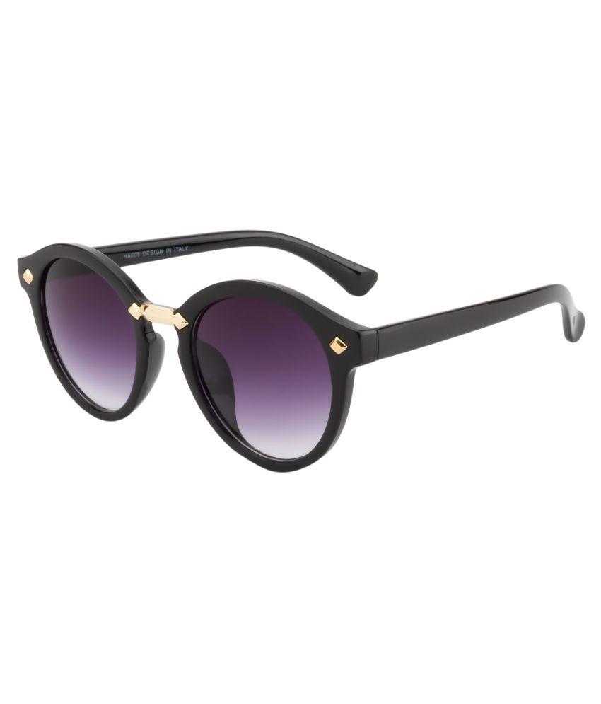 Crazy Eyez Purple Round Sunglasses ( CE005C1 )