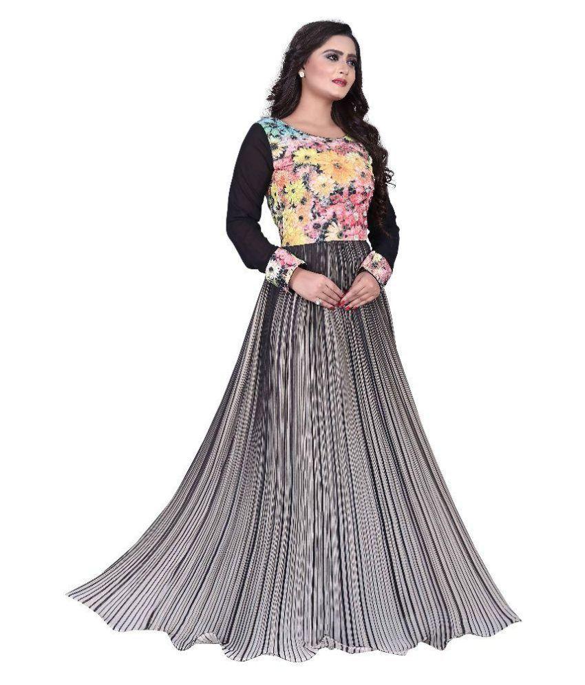 34694ae3f06 Shreeji Designer Multi Color Cotton Gowns
