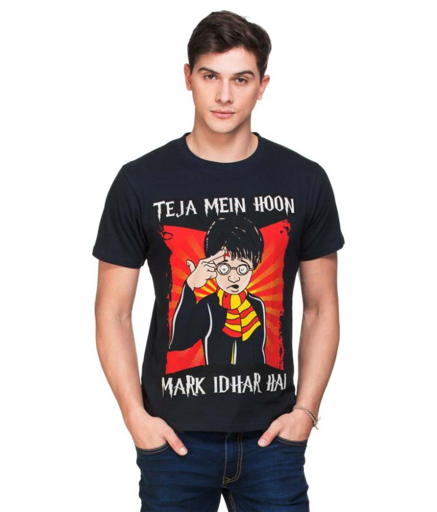 Zovi Black Round T Shirt