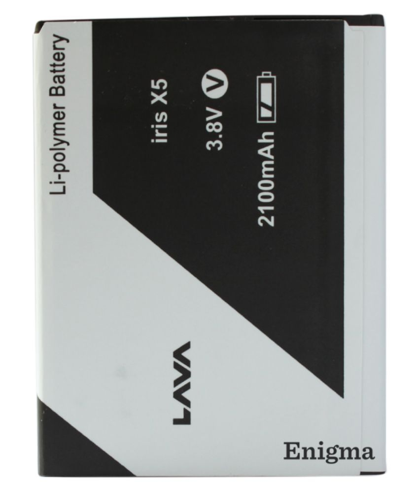 Enigma 2100 mAh Battery for Lava Iris X5