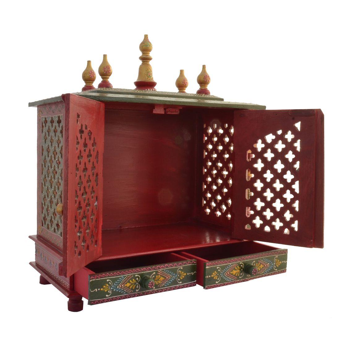 Jodhpur Handicrafts Red Wood Hanging Mandir: Buy Jodhpur