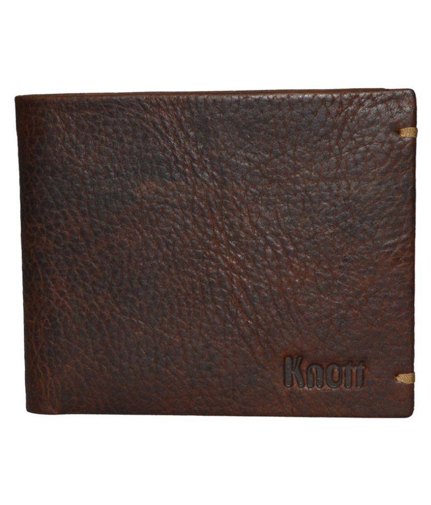 Knott Brown Leather Premium Regular Wallet For Men