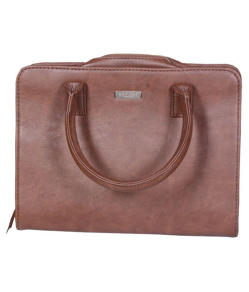 f3d64f47c9ab9 Oriflame Brown Pure Leather Handheld - Buy Oriflame Brown Pure Leather  Handheld Online at Best Prices in India on Snapdeal