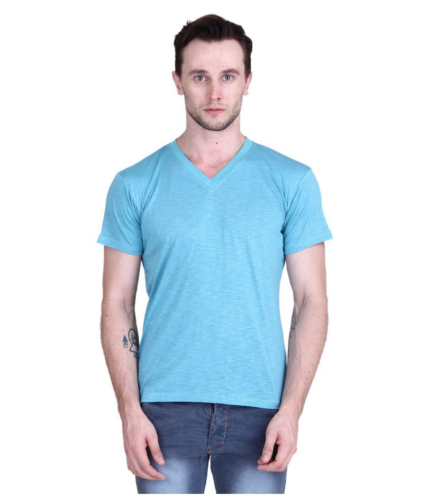 Piccolo Clothings Blue V-Neck T Shirt