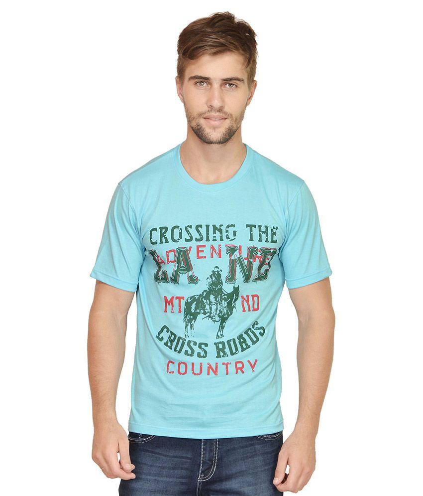 Urban Colors Blue Round T Shirt