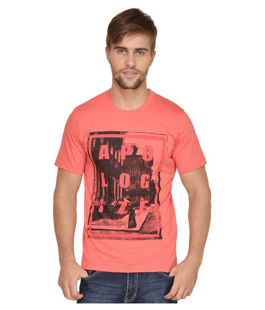 Urban Colors Peach Round T Shirt