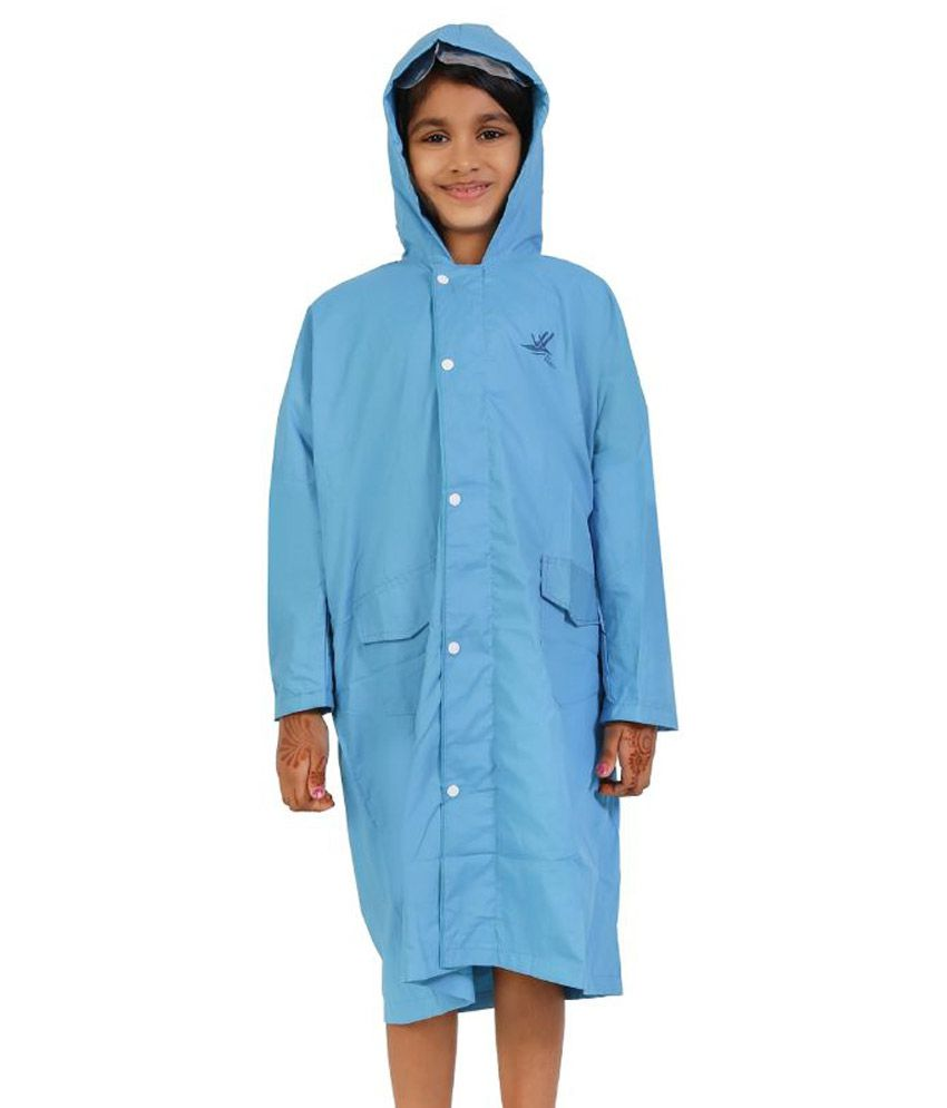 Zeel Blue Viscose Rainwear for Girls