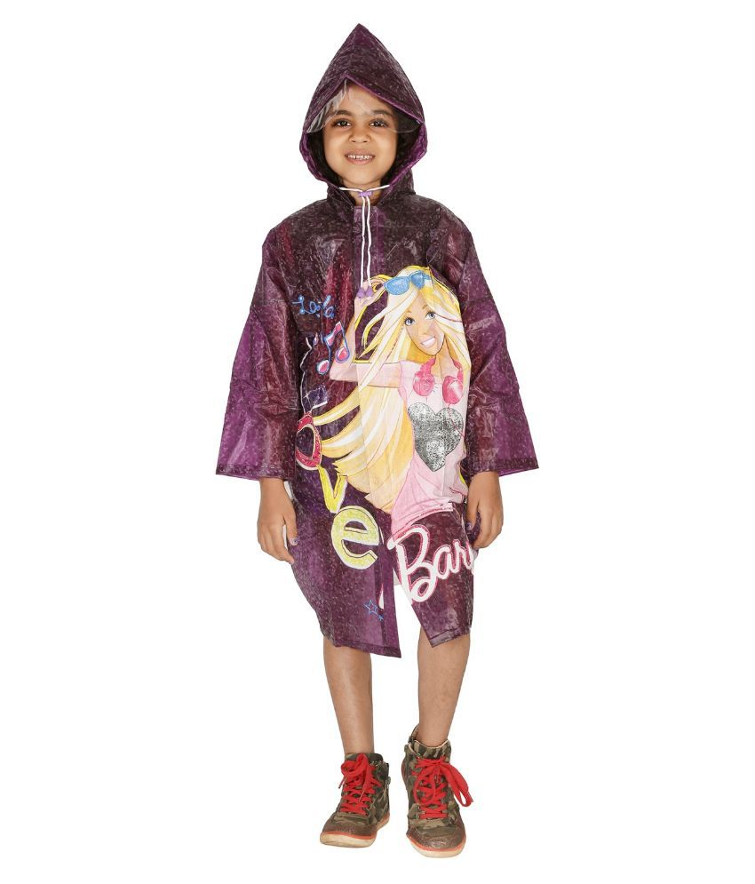Zeel Multicolour Viscose Rainwear for Girls