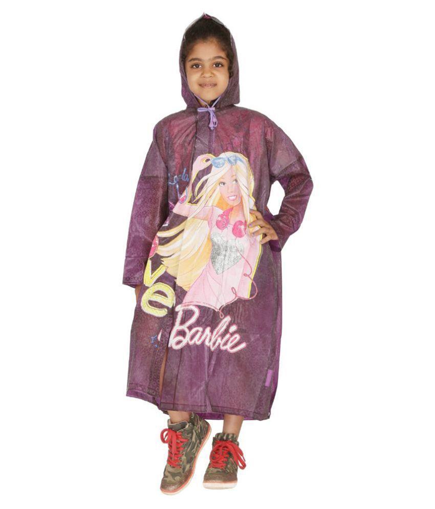 Zeel Purple Viscose Rainwear for Girls