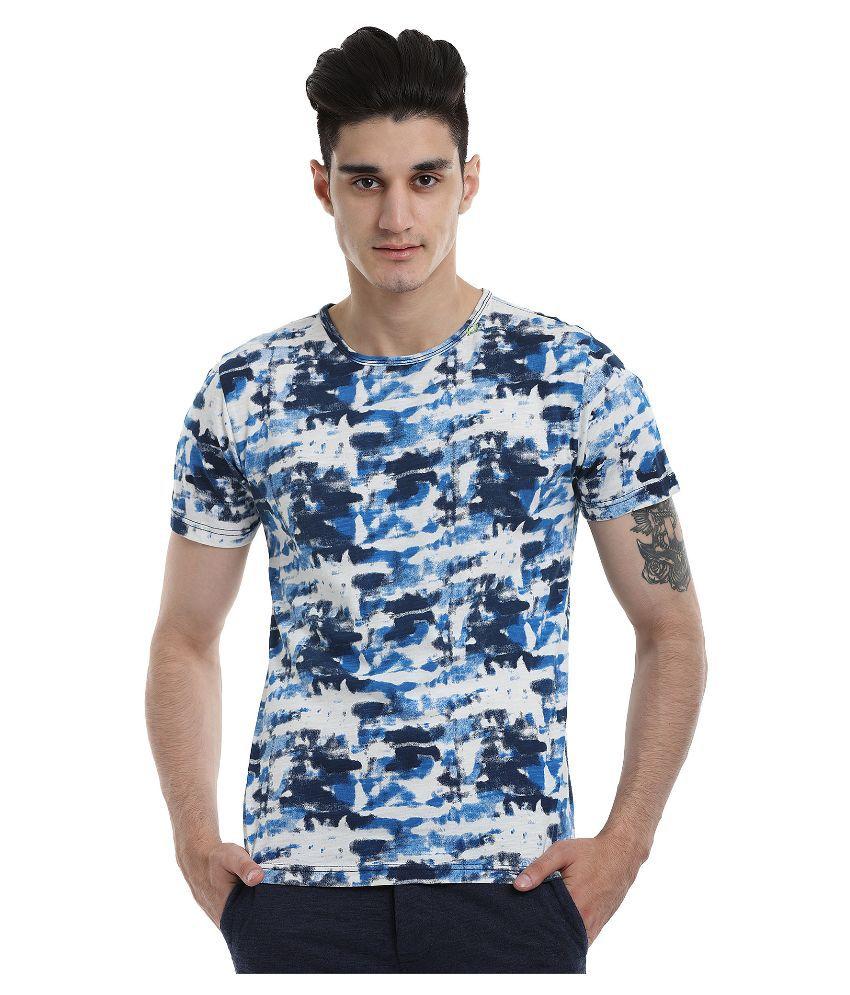 Zobello Blue Round T Shirt