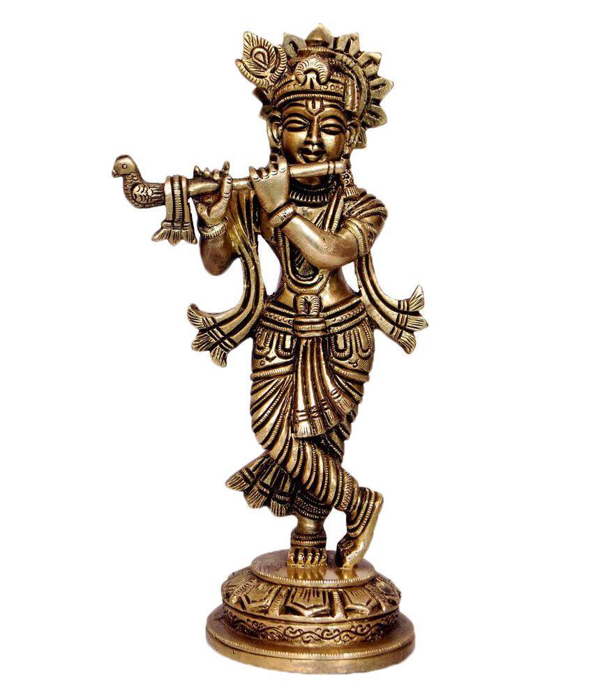 1st Home Brass Krishna Idol