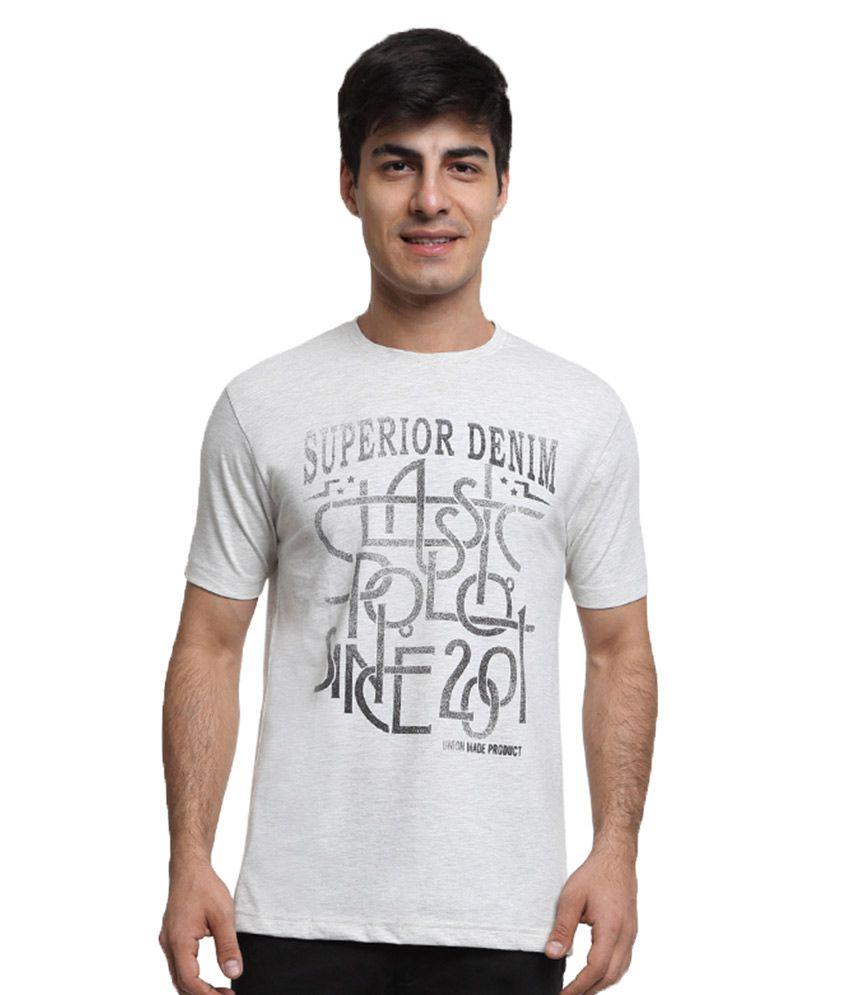 Classic Polo White Round T Shirt