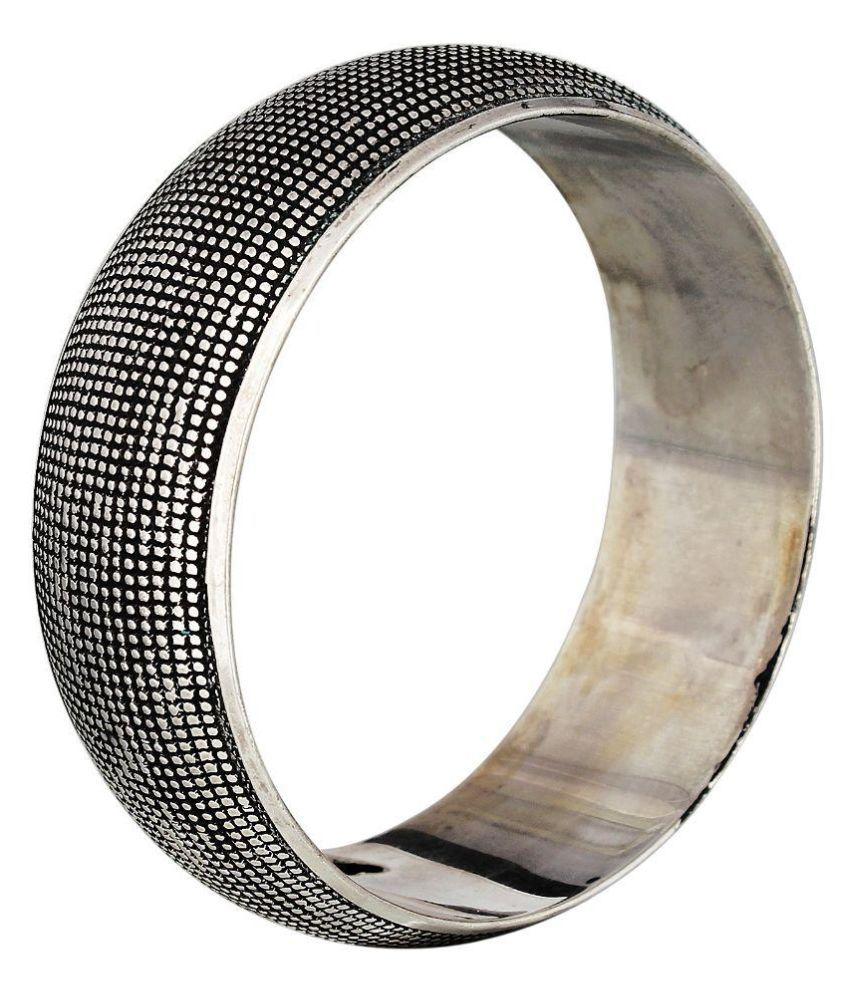 Polinter Brass Silver Coloured Bangle