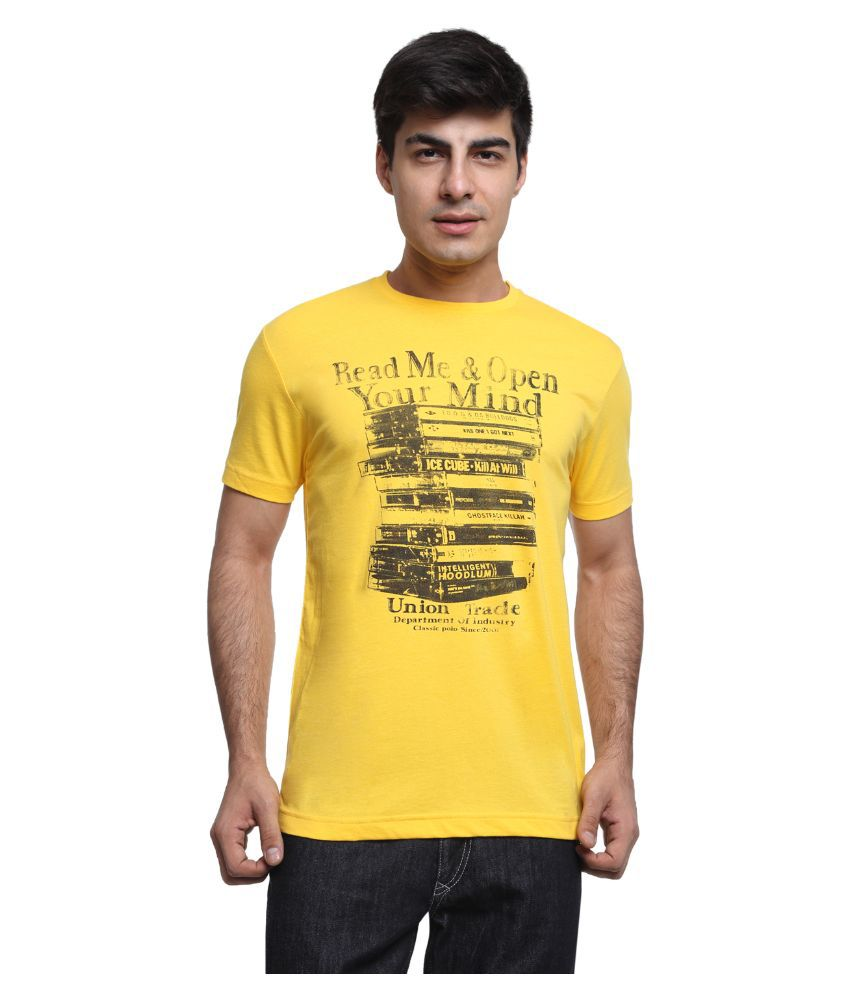 Classic Polo Yellow Round T Shirt