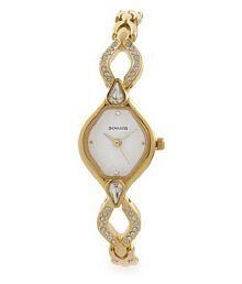 Sonata Golden Analog Watch