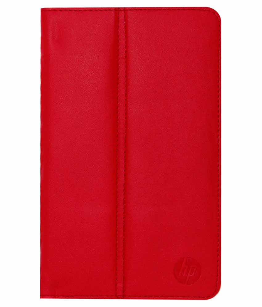 Acm Flip Case Cover For Hp Slate 7 Voicetab Cover Stand - Red