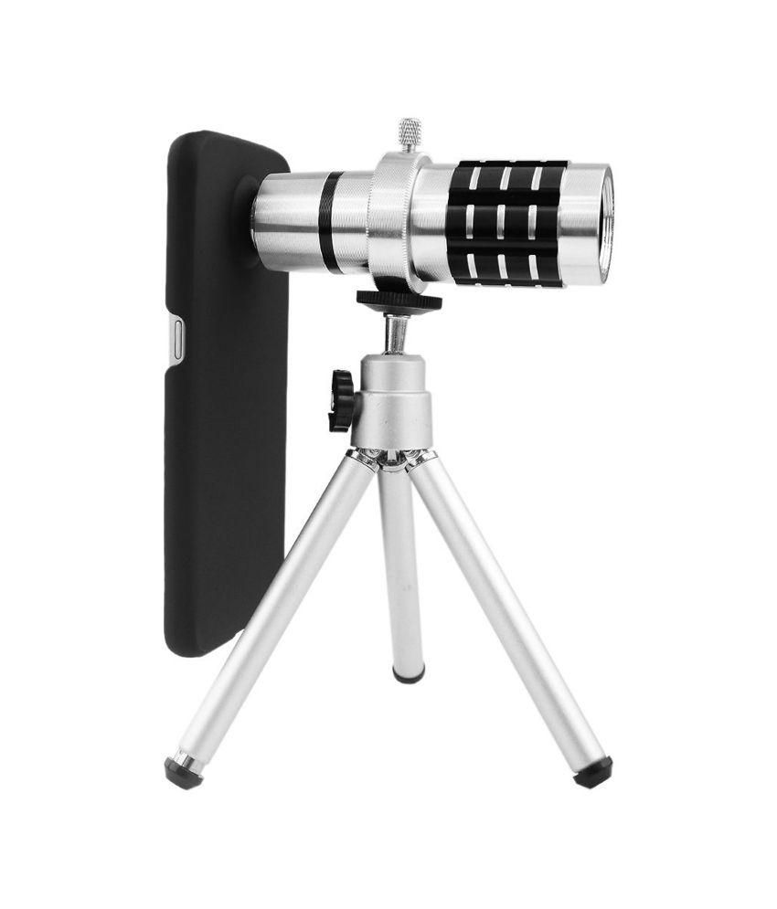 Smiledrive 12X Optical Zoom Telescope Mobile Camera Lens Kit with Back Cover & Tripod for HTC ONE M8