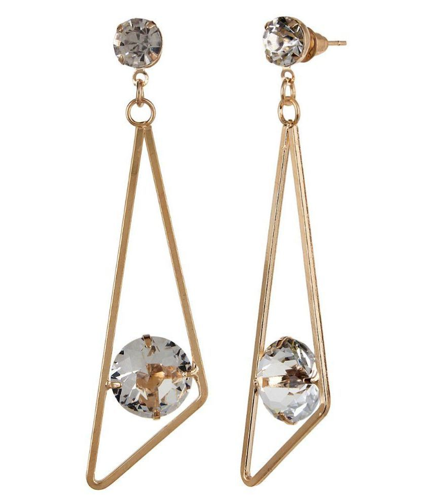 Navya Collections Alloy Studded Gold Coloured Earrings