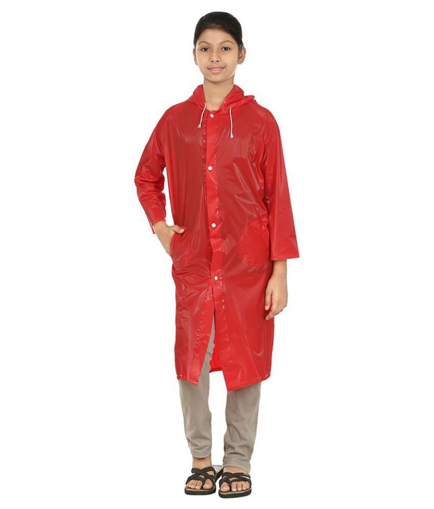 Inside Fashion Red Viscose Rainwear