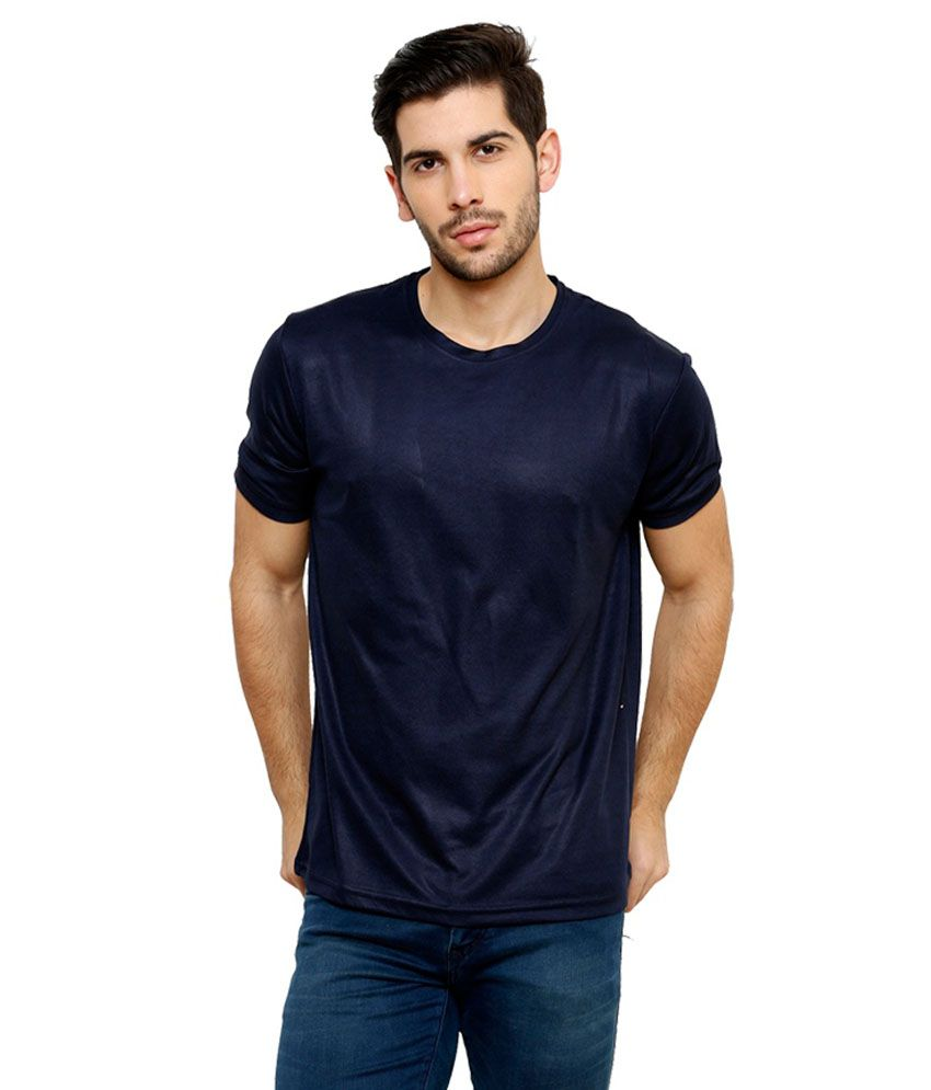 Grand Bear Dry-Fit Fitness T-Shirt - Navy Blue