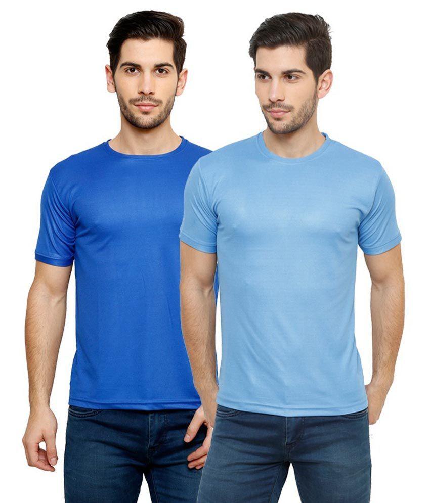 Grand Bear Dry-Fit Fitness T-Shirt Combo - Blue, Sky