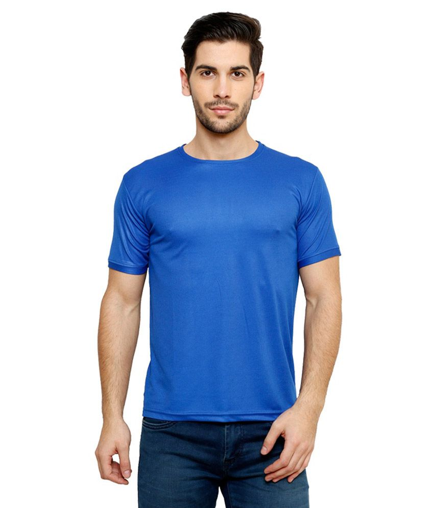 Grand Bear Dry-Fit Fitness T-Shirt - Sky Blue