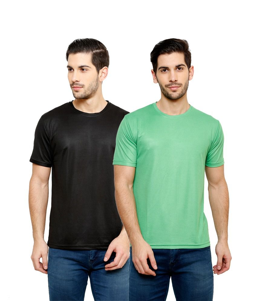 Grand Bear Dry-Fit Fitness T-Shirt Combo - Black, Green
