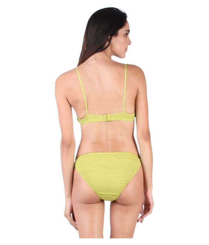 c6bb7f57b Buy Lime Green Lace Bra & Panty Sets Online at Best Prices in India ...