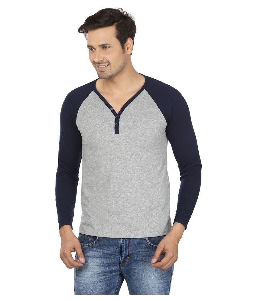Jangoboy Grey Henley T Shirt