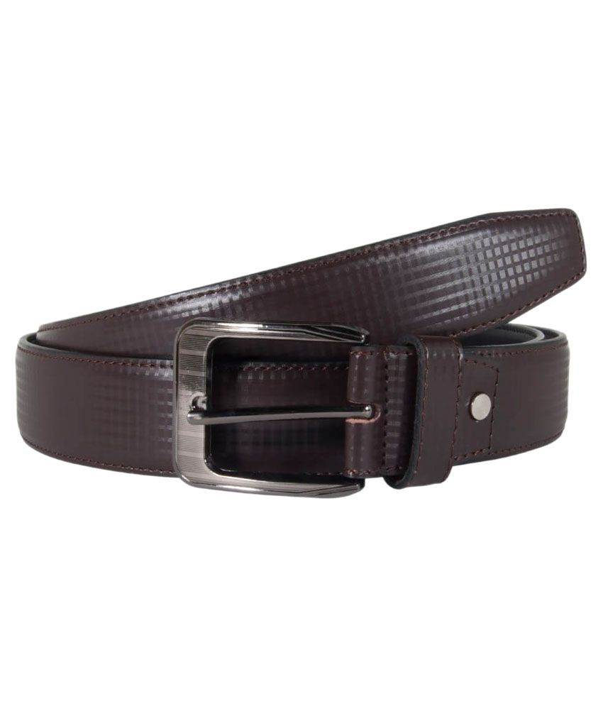 Snoby Brown Leather Belt