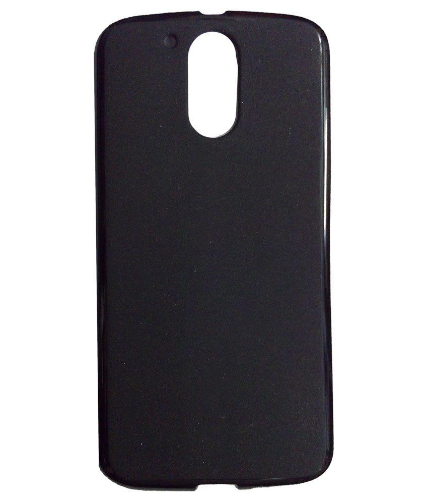 best service 3f3a4 5ac4b Motorola Moto G4 Plus Plain Back Cover by iLove Shopping - Black