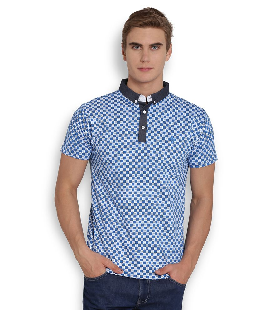 Soulstar Blue Henley T Shirt