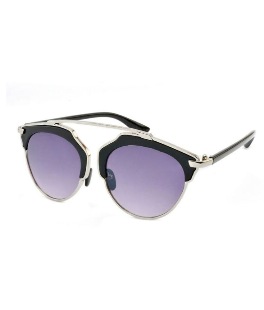 Stacle Purple Round Sunglasses ( STCHN1524 col1 )