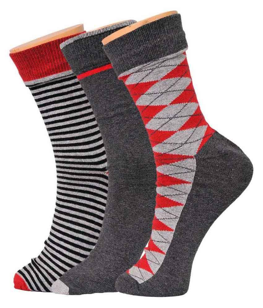 Tiekart Multicolour Cotton Socks - Pack Of 3