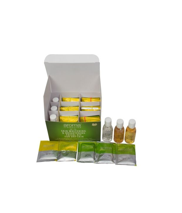 Aroma Treasures Skin Whitening & Brightening Facial Kit For Dry Skin