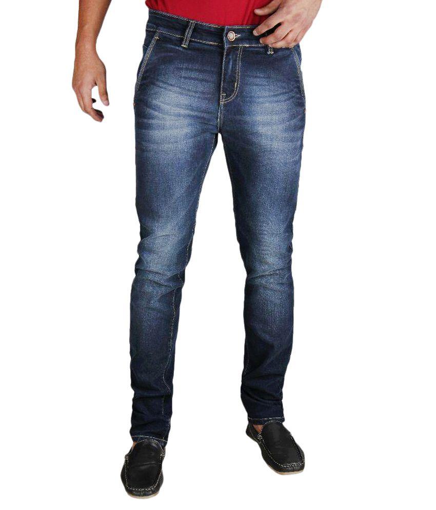 Fever Blue Slim Fit Washed Jeans