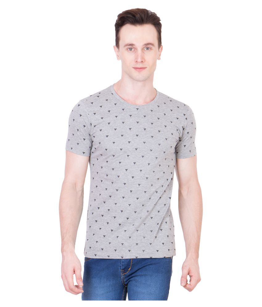Ganzm Grey Round T Shirt