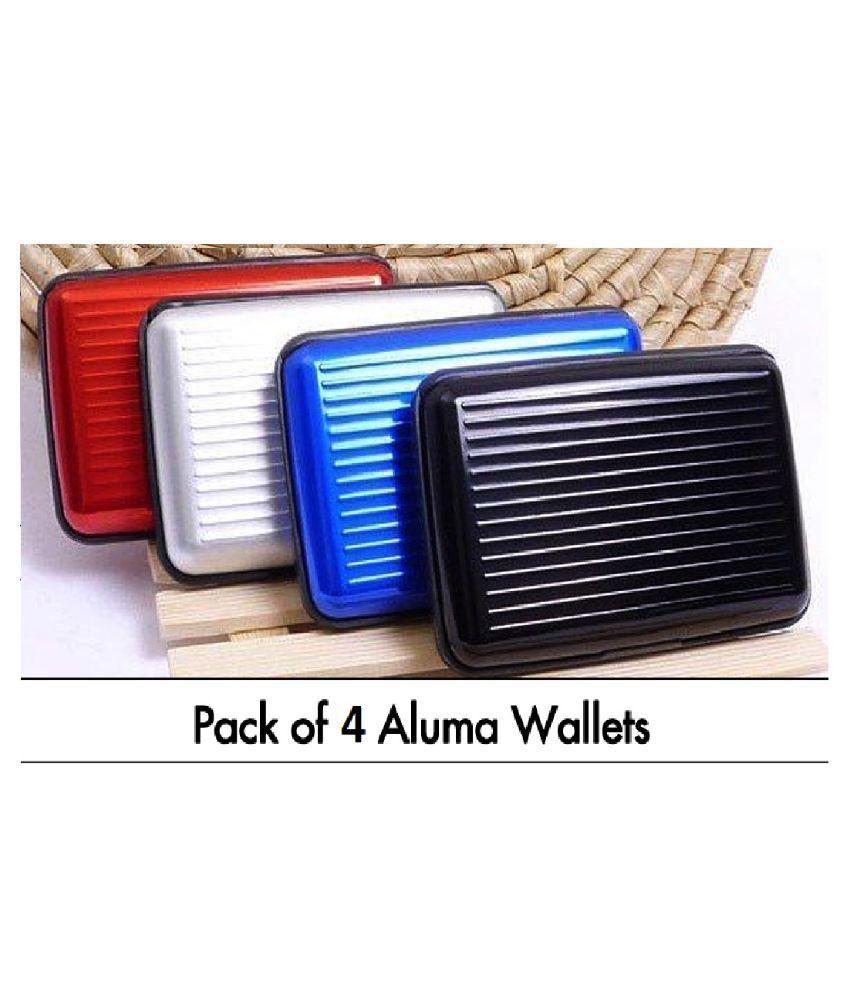 dcb59d3df72e Multicolour Aluma Security Aluminium Credit Card Wallet Card Pack Holder  Case Box Protector - Set of 4