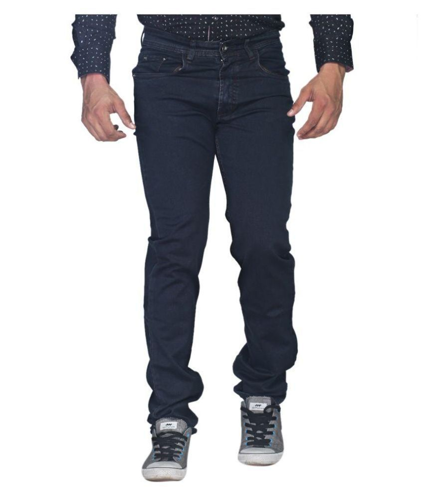 Skyline Blue Slim Fit Solid Jeans