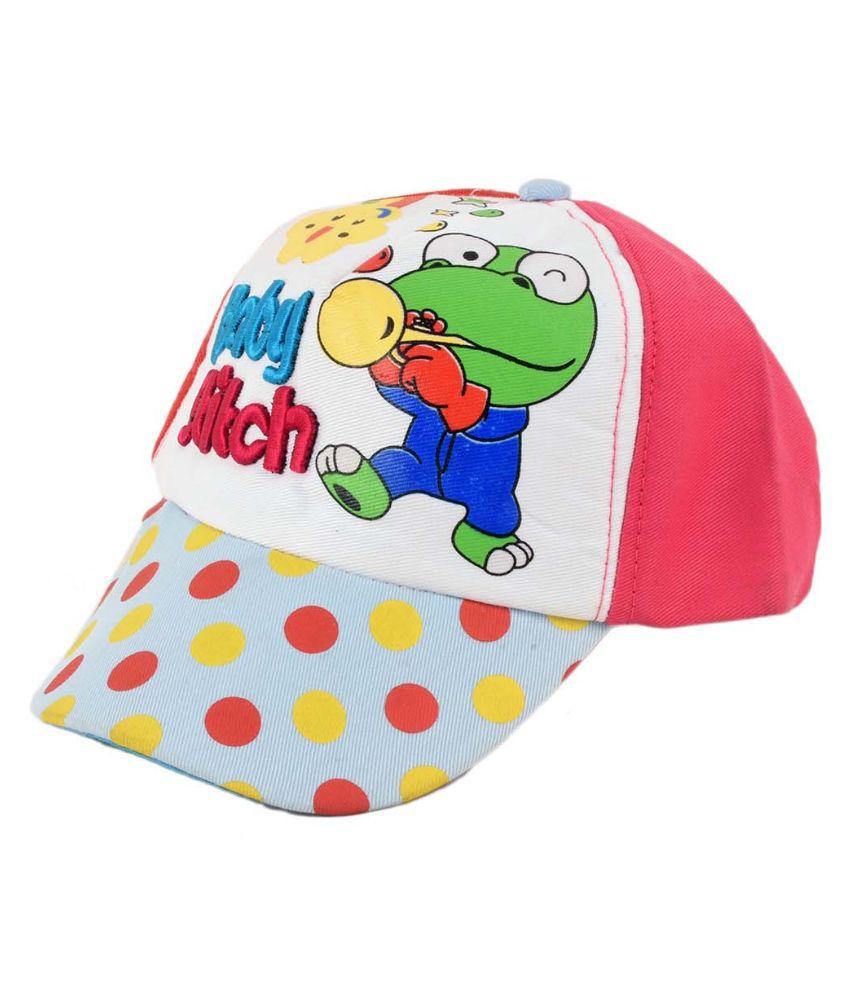 Tiekart Multicolor Cotton Baseball Cap For Kids