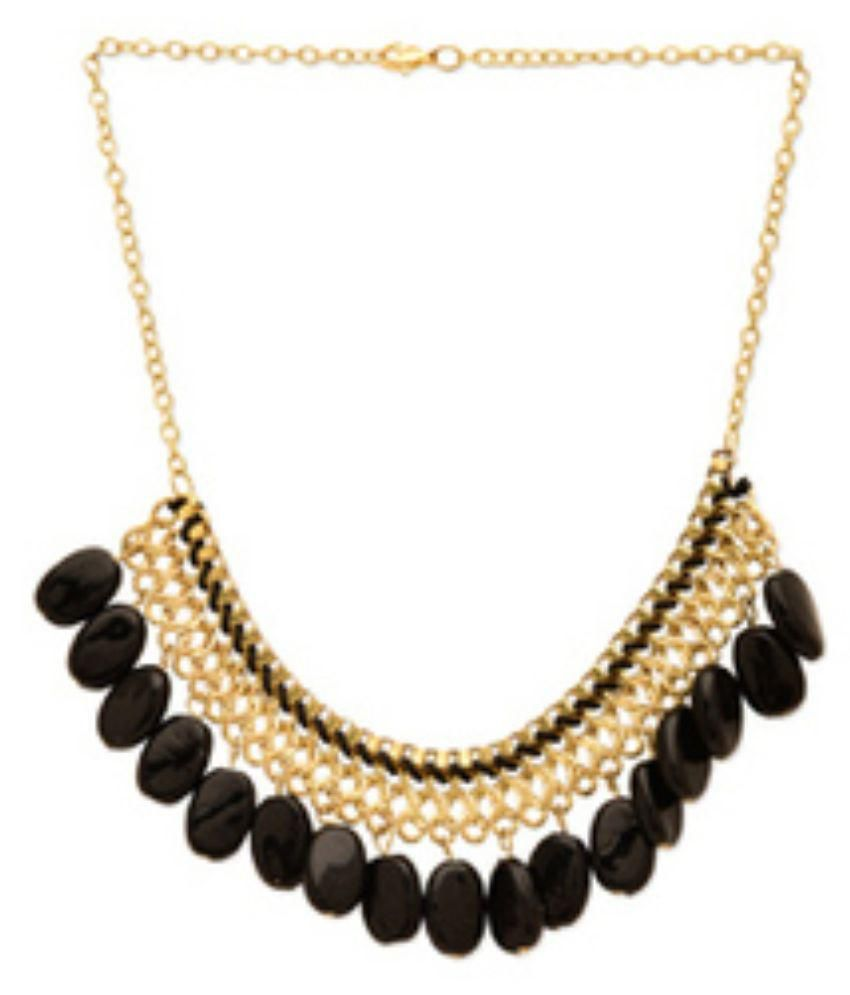 Fedexo Golden & Black Alloy Necklace