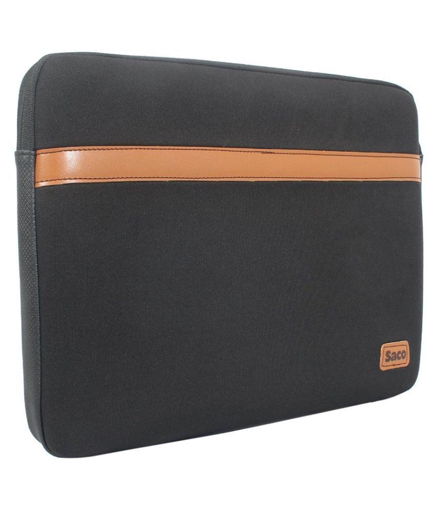 Saco sleeve Black P.U. Laptop Sleeve