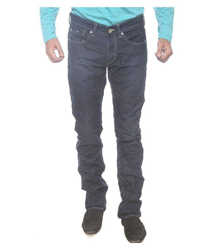 Spykar Black Slim Fit Distressed Jeans