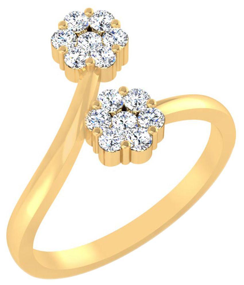 Carat Forever Yellow Gold  14Kt Diamond Ring Diamonds Ring