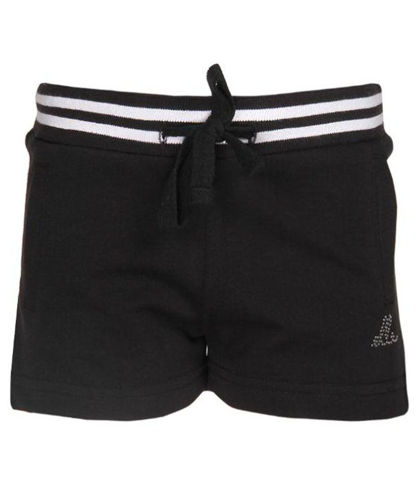 Elle Kids Cotton Black Shorts For Girls